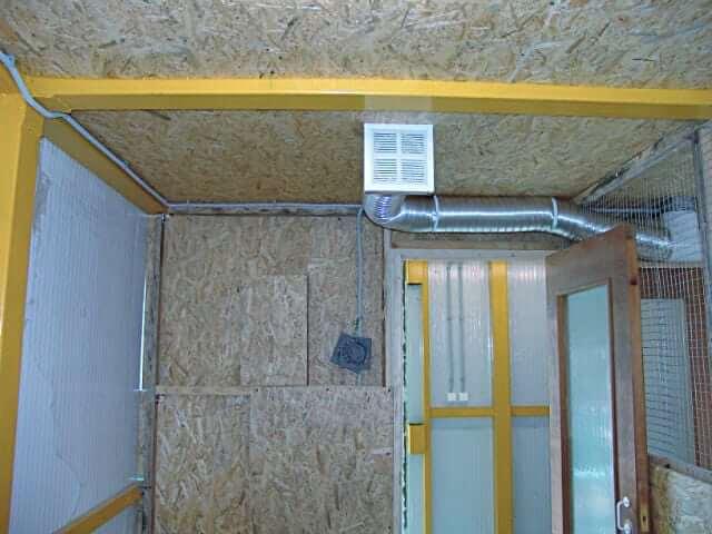 Как сделать вентиляционную систему в курятнике